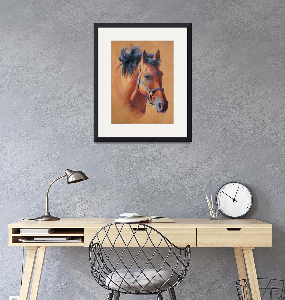 """""""Horse on Leather""""  by ChichiMiller"""