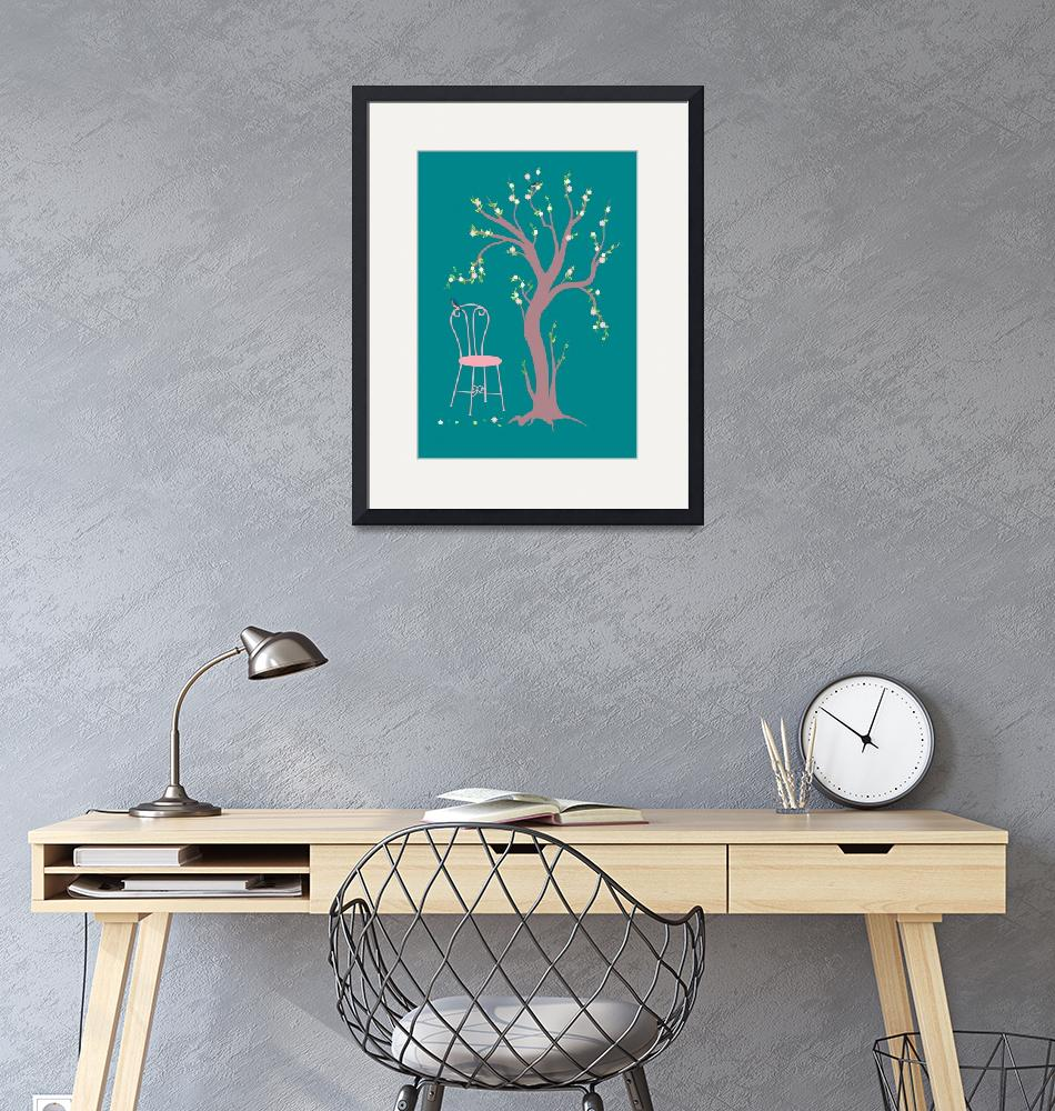 """""""wooden chair and the tree""""  by Design4uStudio"""