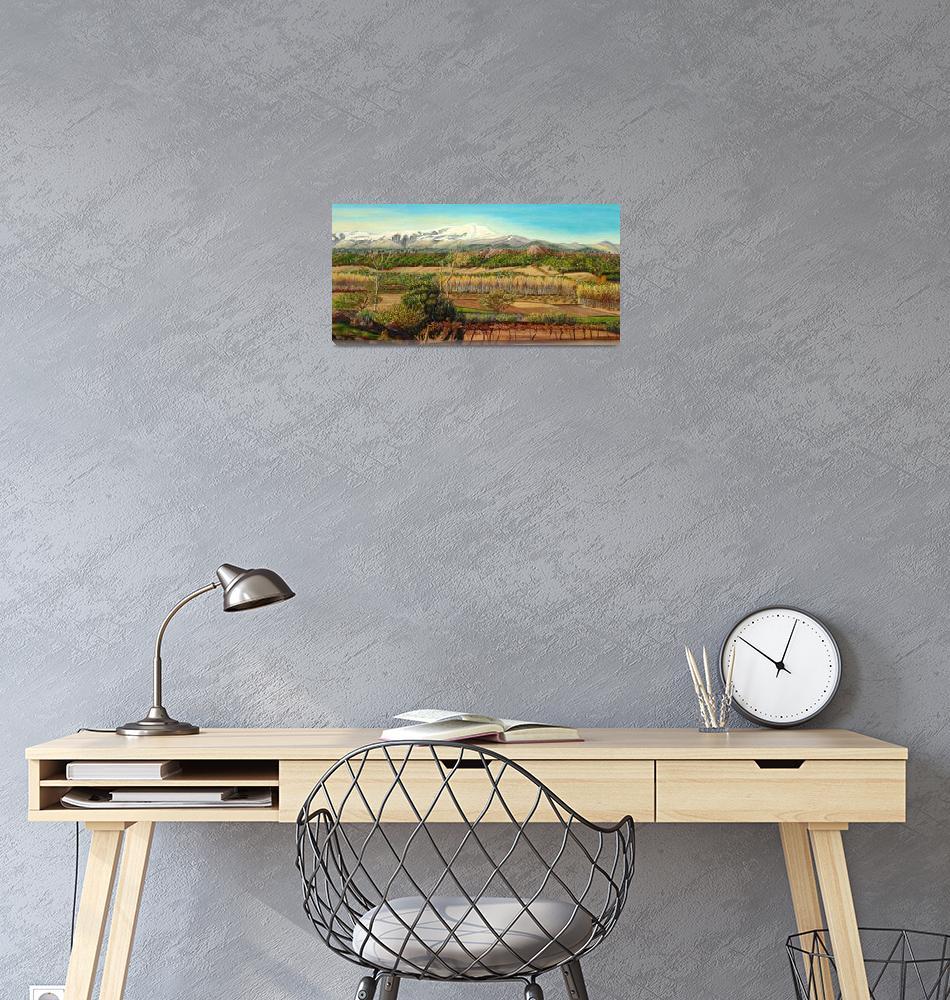 """Vineyard Valley In The Sierra Nevada Surroundings""  (2015) by angelesmpomata"