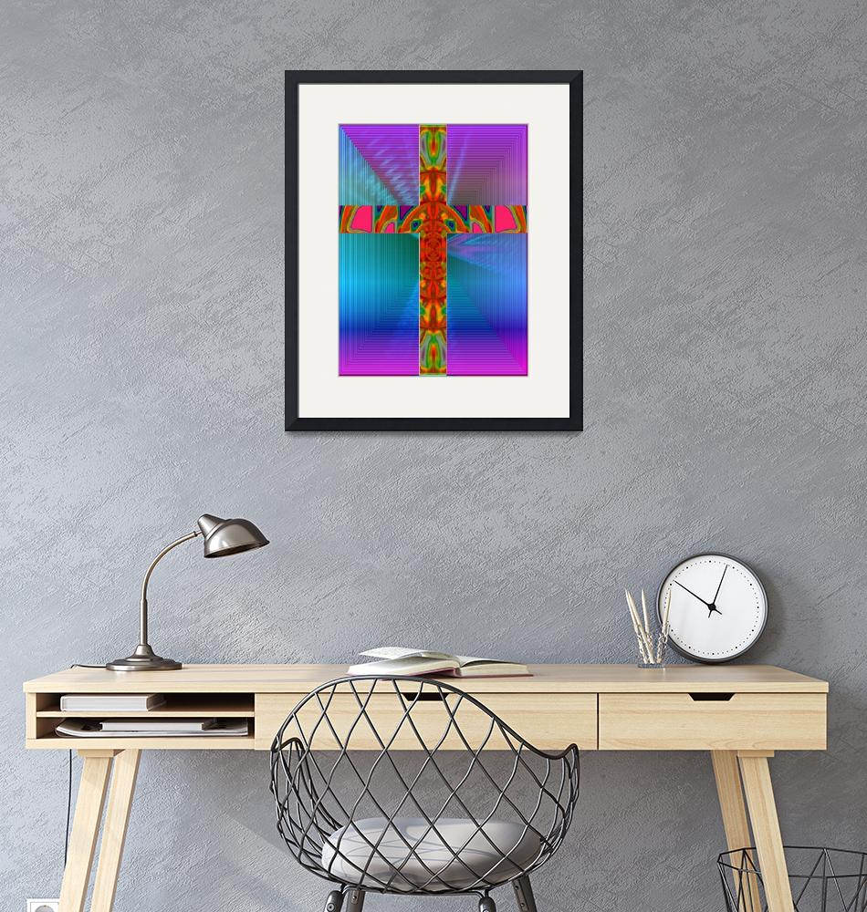 """Abstract Cross""  (2008) by MichaelClydeEllis"