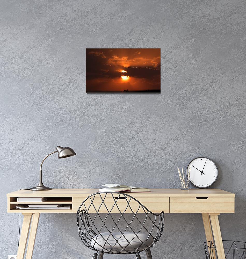 """Sunrise in Jordan Desert""  (2007) by JoaoPonces"