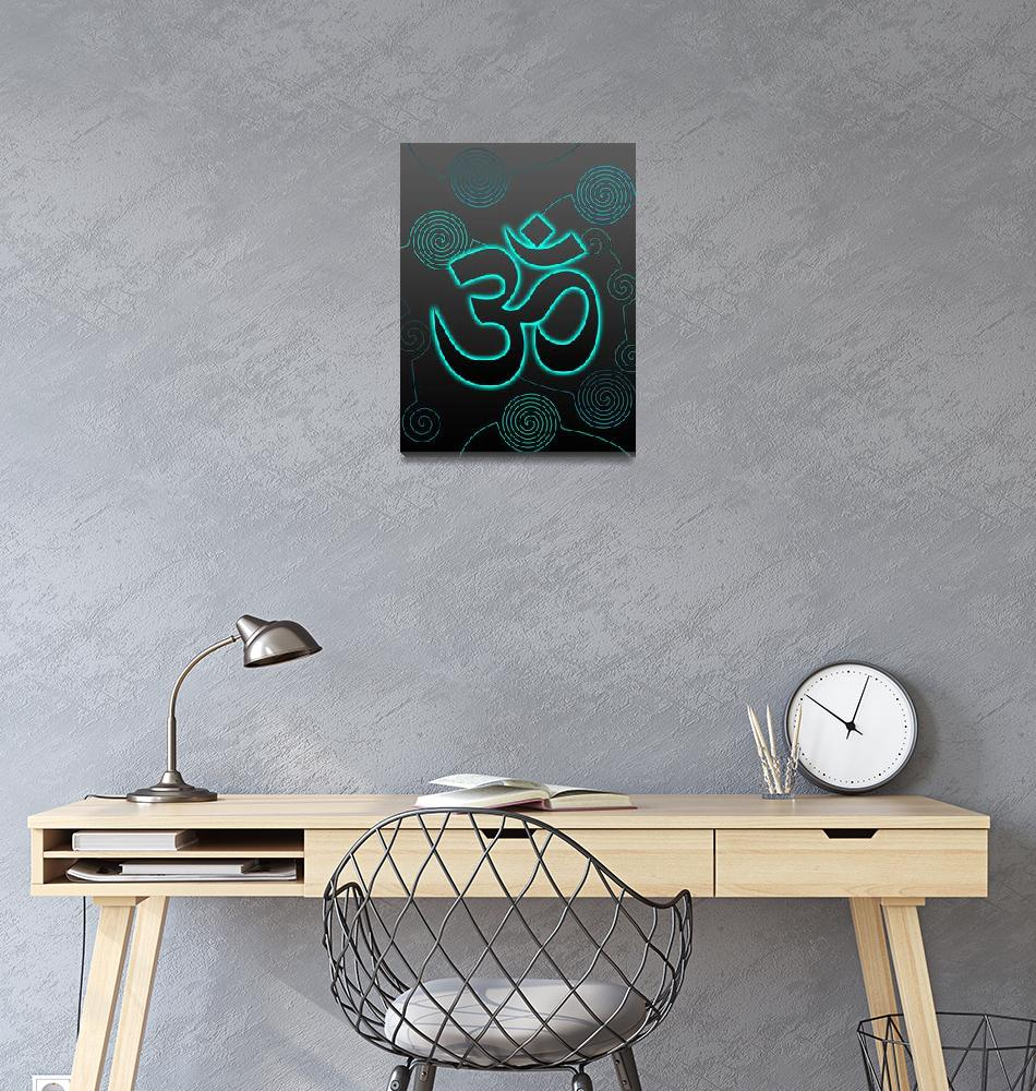 """""""OM Sign with turquoise glow""""  (2010) by desi"""