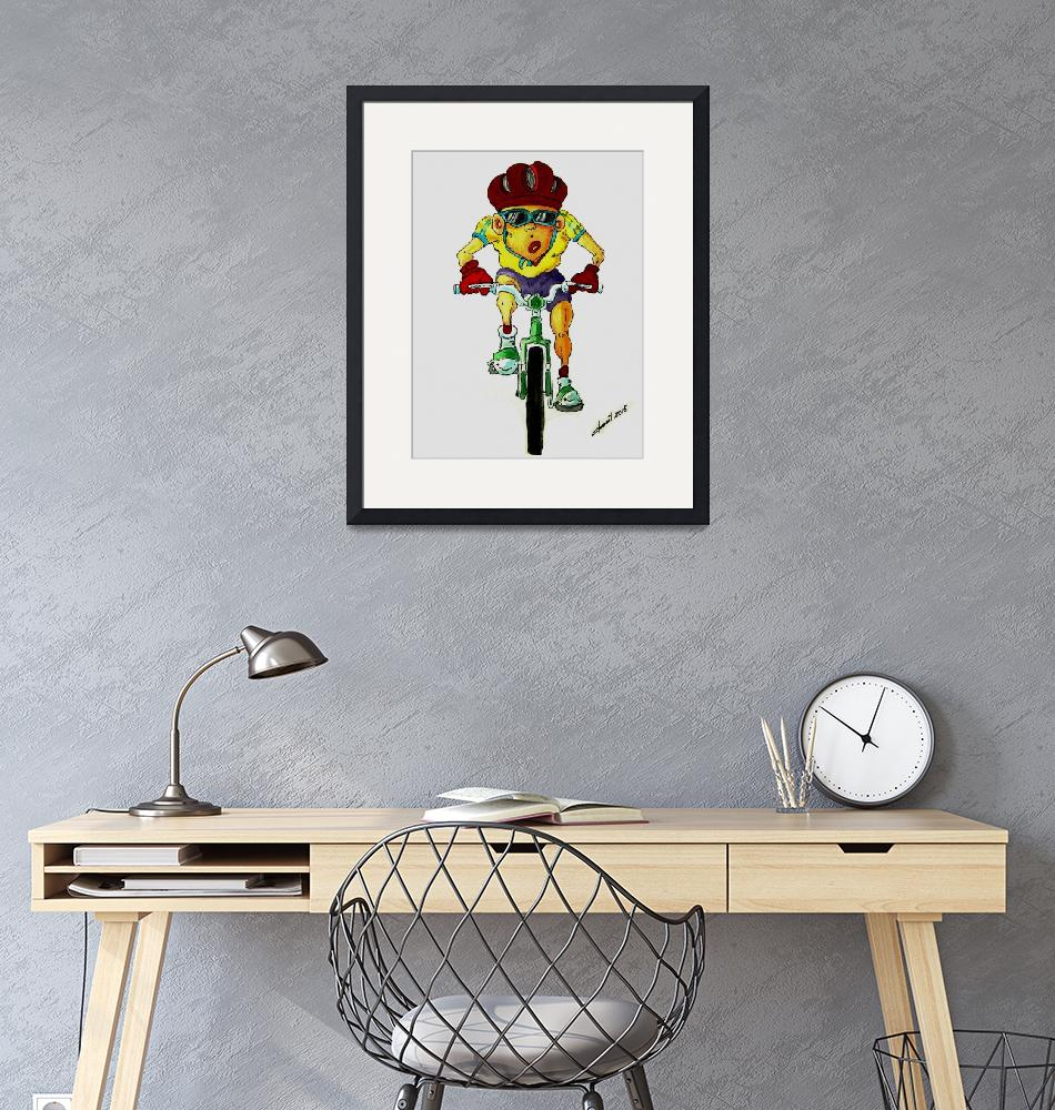 """""""Bicycle Rider""""  (2015) by cneartgallery"""