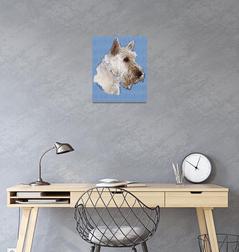 """""""Scottish Terrier Wheaten""""  (2008) by diane"""
