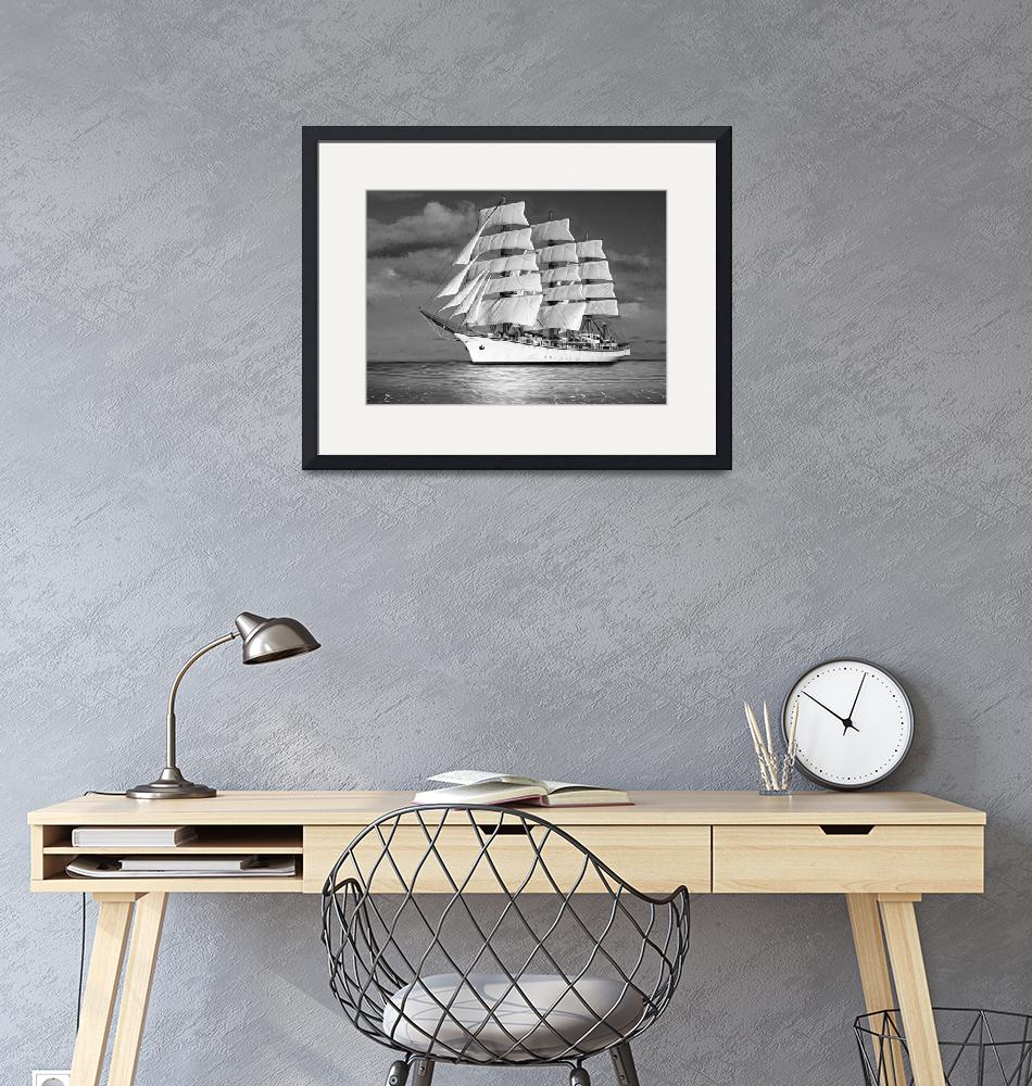"""""""Sailing ship.  Pure dream.""""  (2019) by Radiant"""