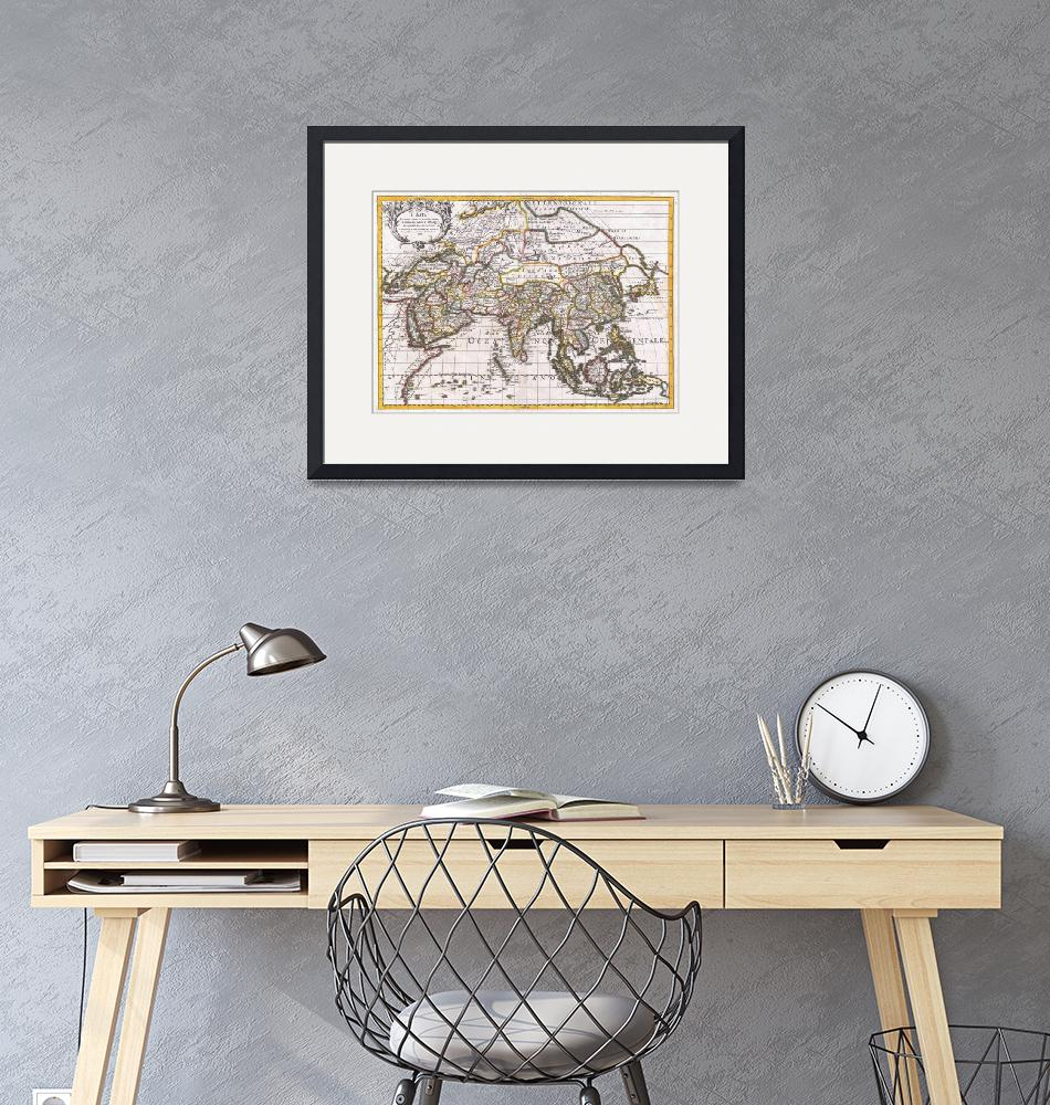 """""""Map of Asia by Giacomo Cantelli""""  by FineArtClassics"""