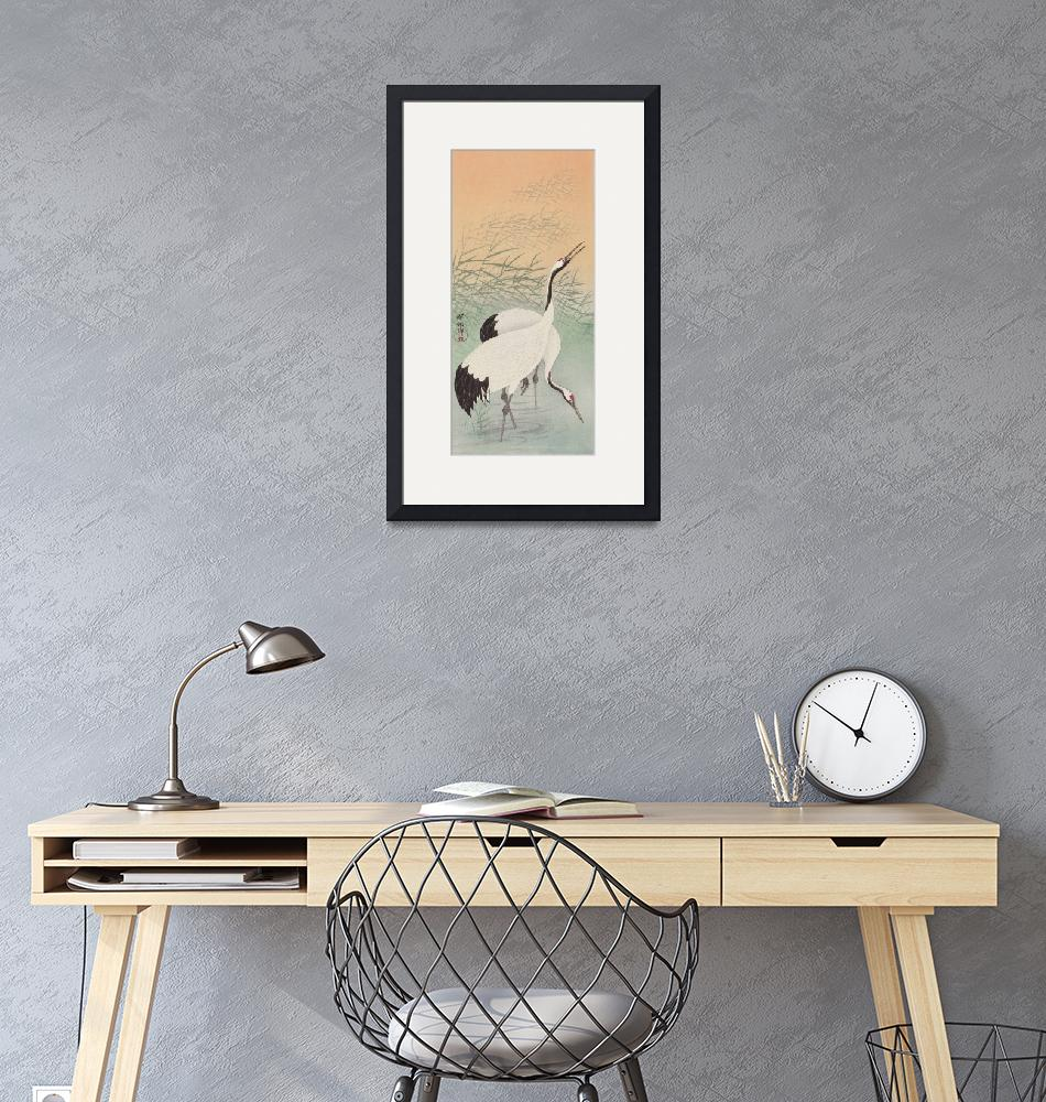"""""""Two Cranes by Ohara Koson""""  by FineArtClassics"""