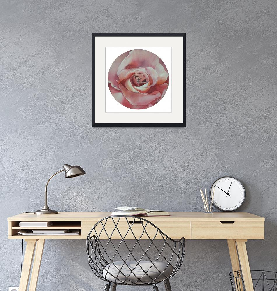 """Rose on Vinyl Record""  (2008) by claudiagoodell"
