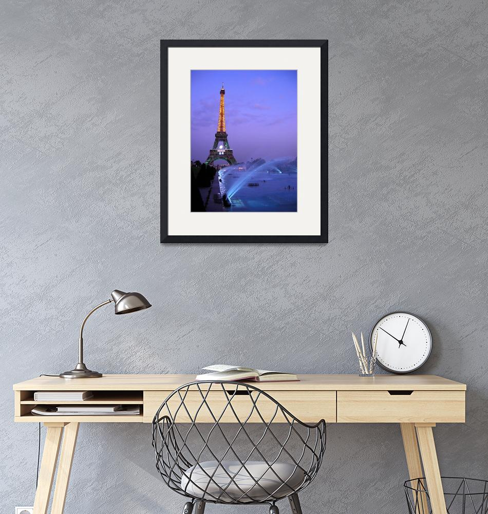 """""""Eiffel Tower at Dusk""""  (2007) by PaulWhyte"""
