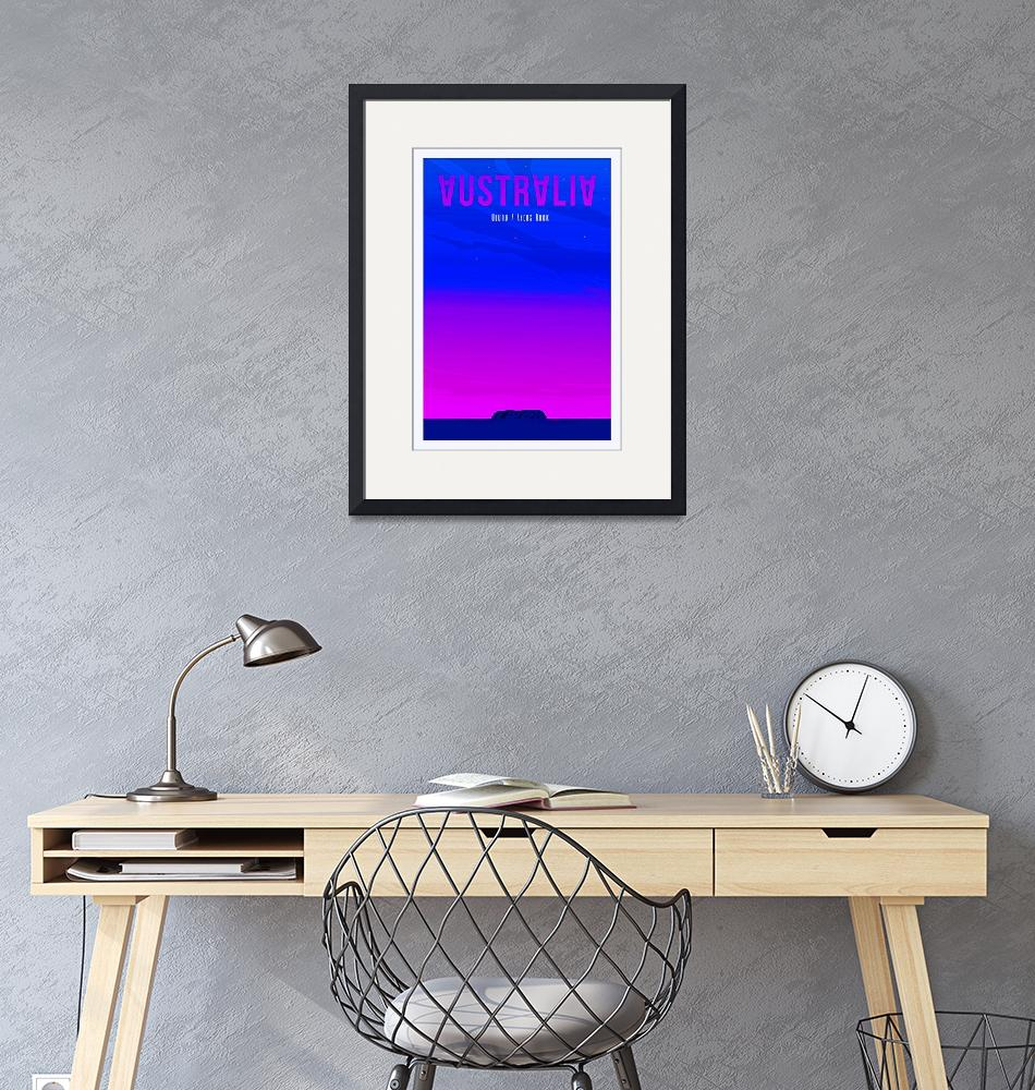 """""""Travel Poster of Australia 50""""  by Arpina"""