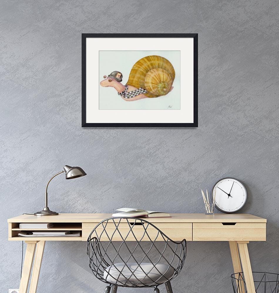 """""""snail in a hurry"""" (2012) by laurelnelsonwhimsy"""