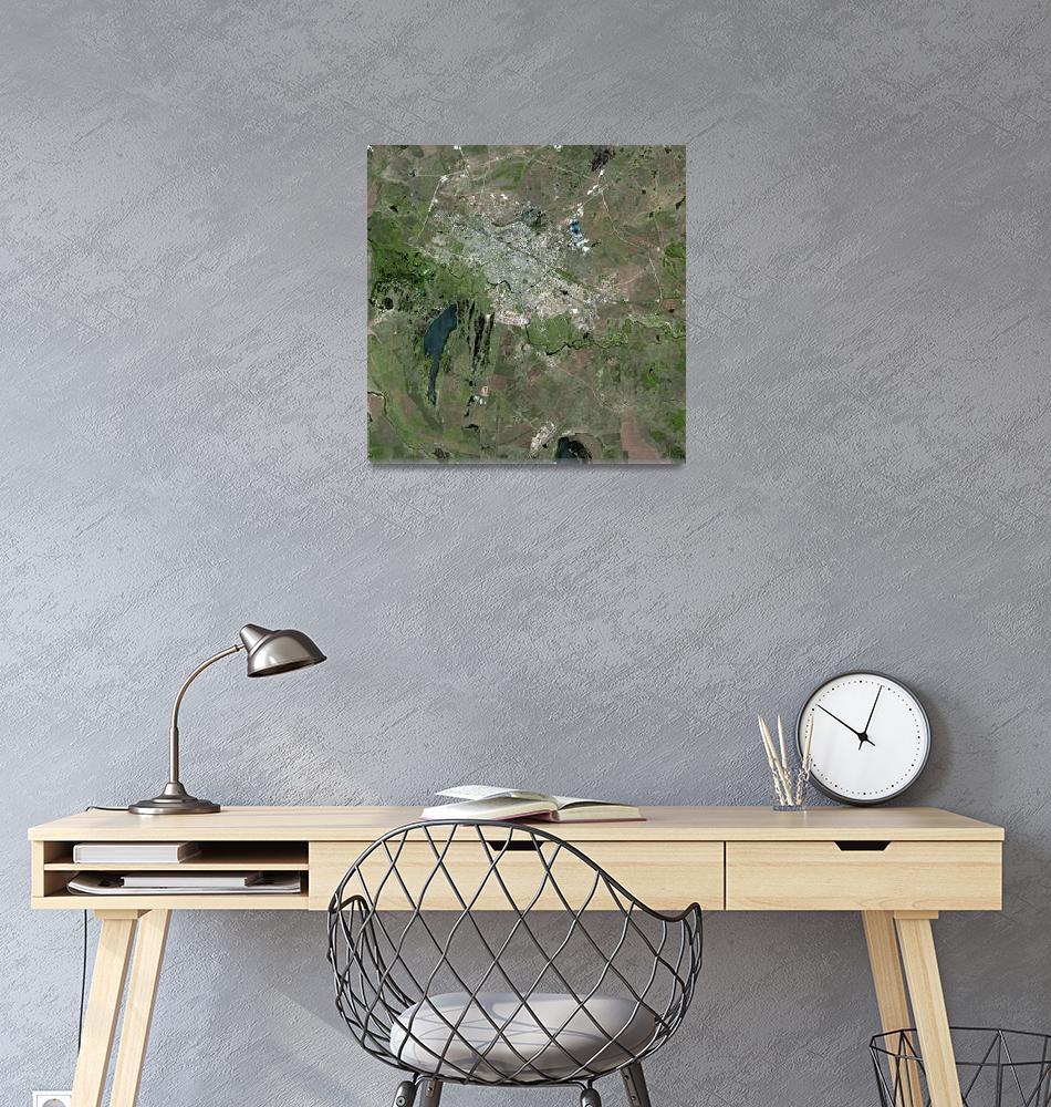 """Astana (Kazakhstan) : Satellite Image""  (2004) by astriumgeo"