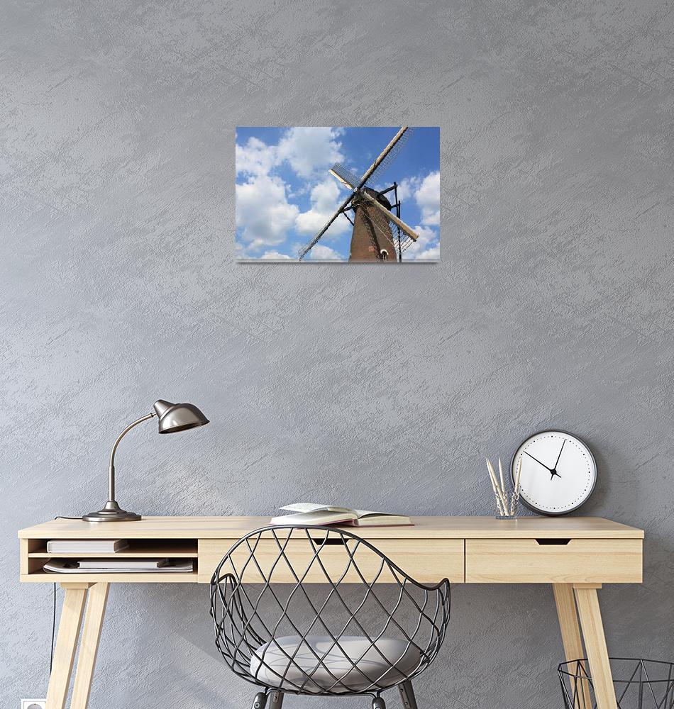 """""""Windmill in Blue Sky""""  (2011) by DaniCaliGirl"""