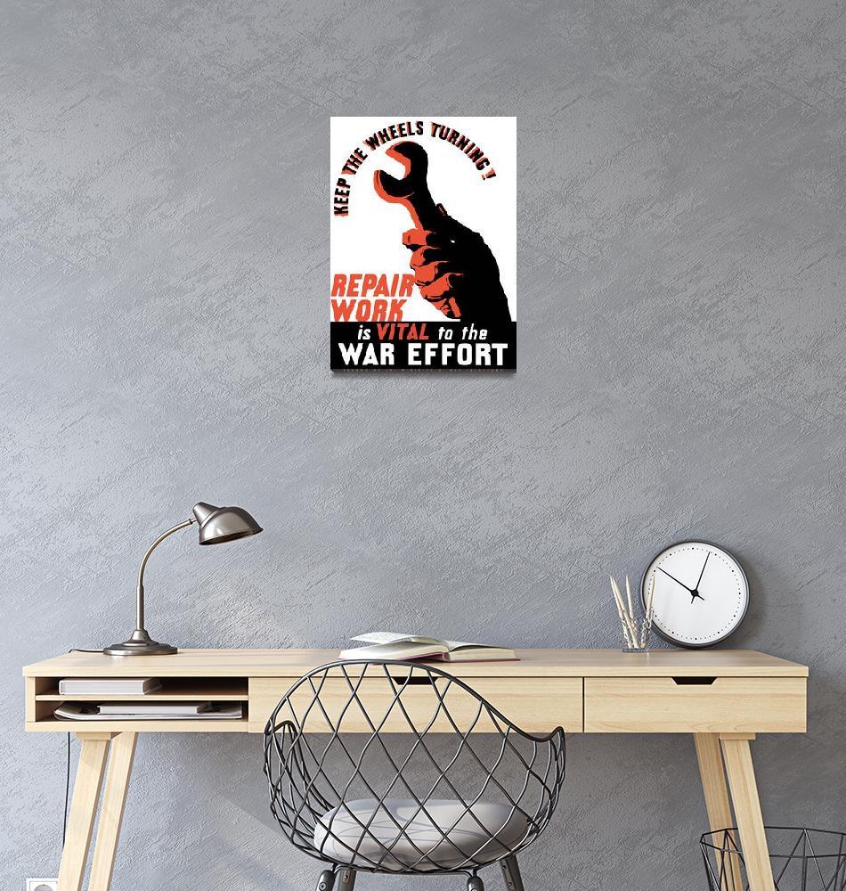 """""""Digitally restored vector war propaganda poster. K""""  by stocktrekimages"""