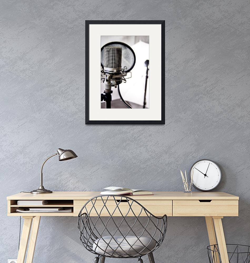 """""""Studio Mic""""  (2010) by Hollagraphy"""
