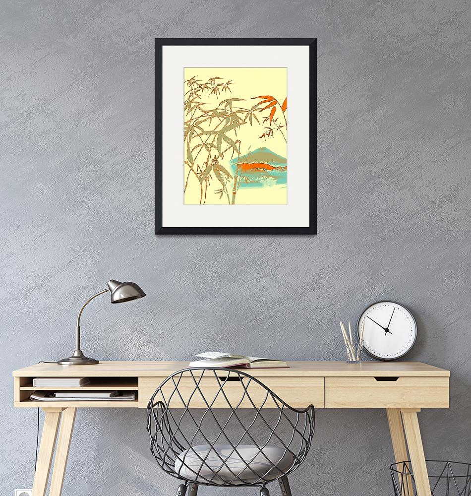 """Mt Fiji View from Bamboo Forest Poster""  by motionage"