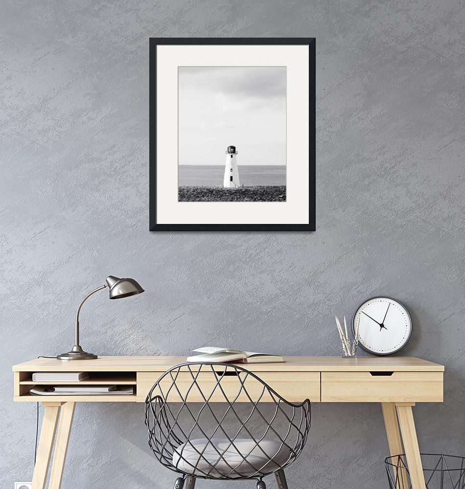 """Minimalist Lighthouse Photo - Black and White Naut""  (2011) by StephsShoes"