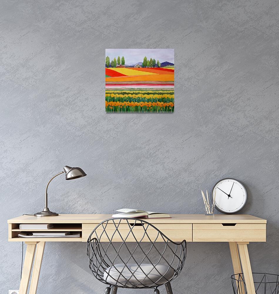 """Skagit Valley tulips""  by studiobythesound"