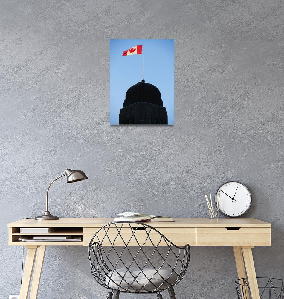 """Canadian Flag (1)""  (2010) by Markomarko"