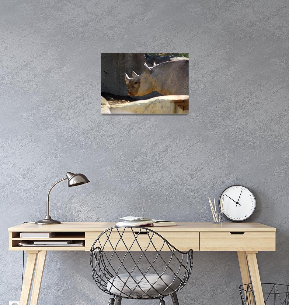 """Rosie Rhino""  (2015) by KsWorldArt"