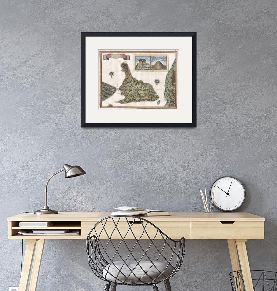 """""""Vintage Map of Bali Indonesia (1760)""""  by Alleycatshirts"""