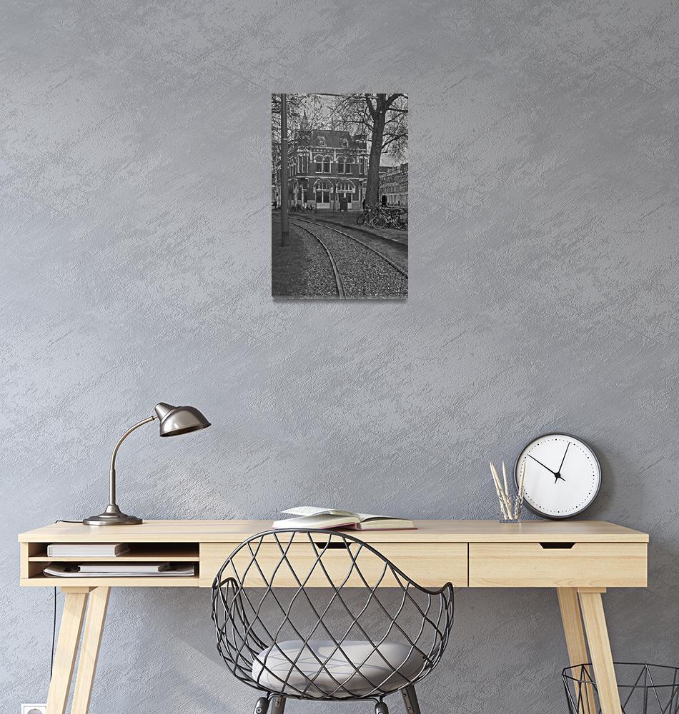"""Rail tracks in Amsterdam.""  (2011) by TEHuchton"