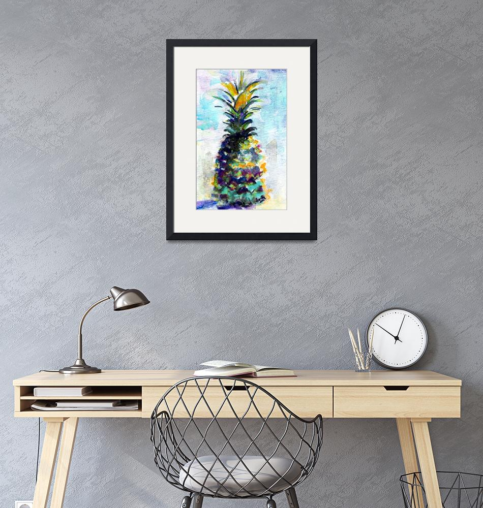 """""""Blue Pineapple by Ginette""""  (2015) by GinetteCallaway"""