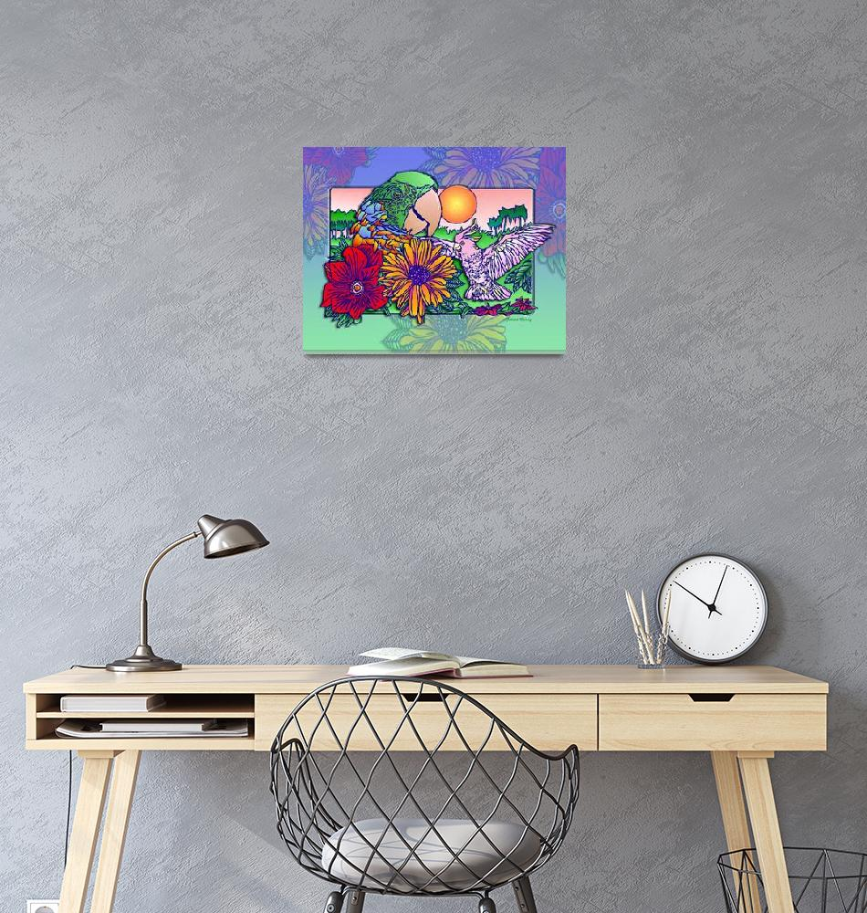 """tropicalwings2 11x14""  (2012) by RichardMurrey"