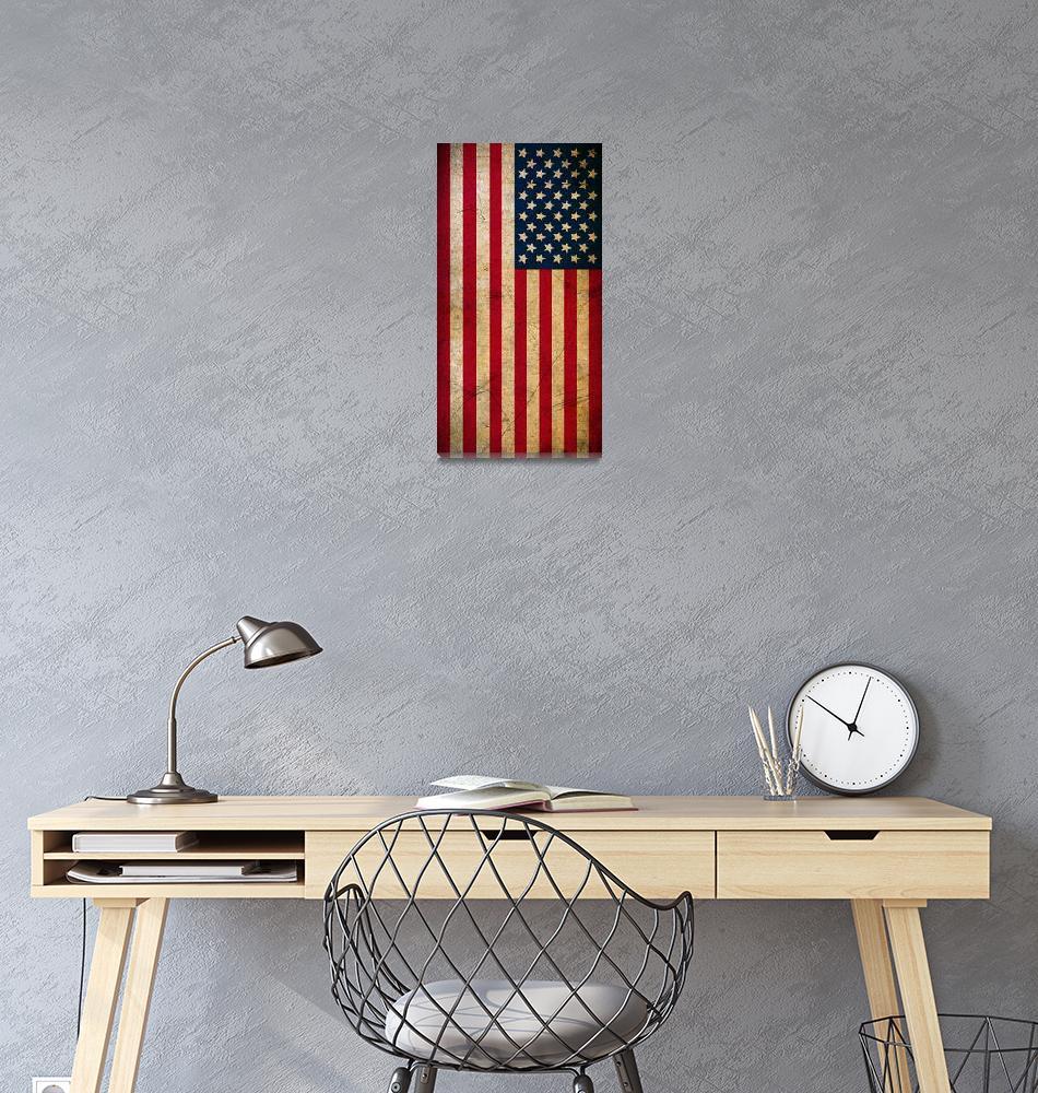 """Vintage American Flag""  (2016) by smyrna"