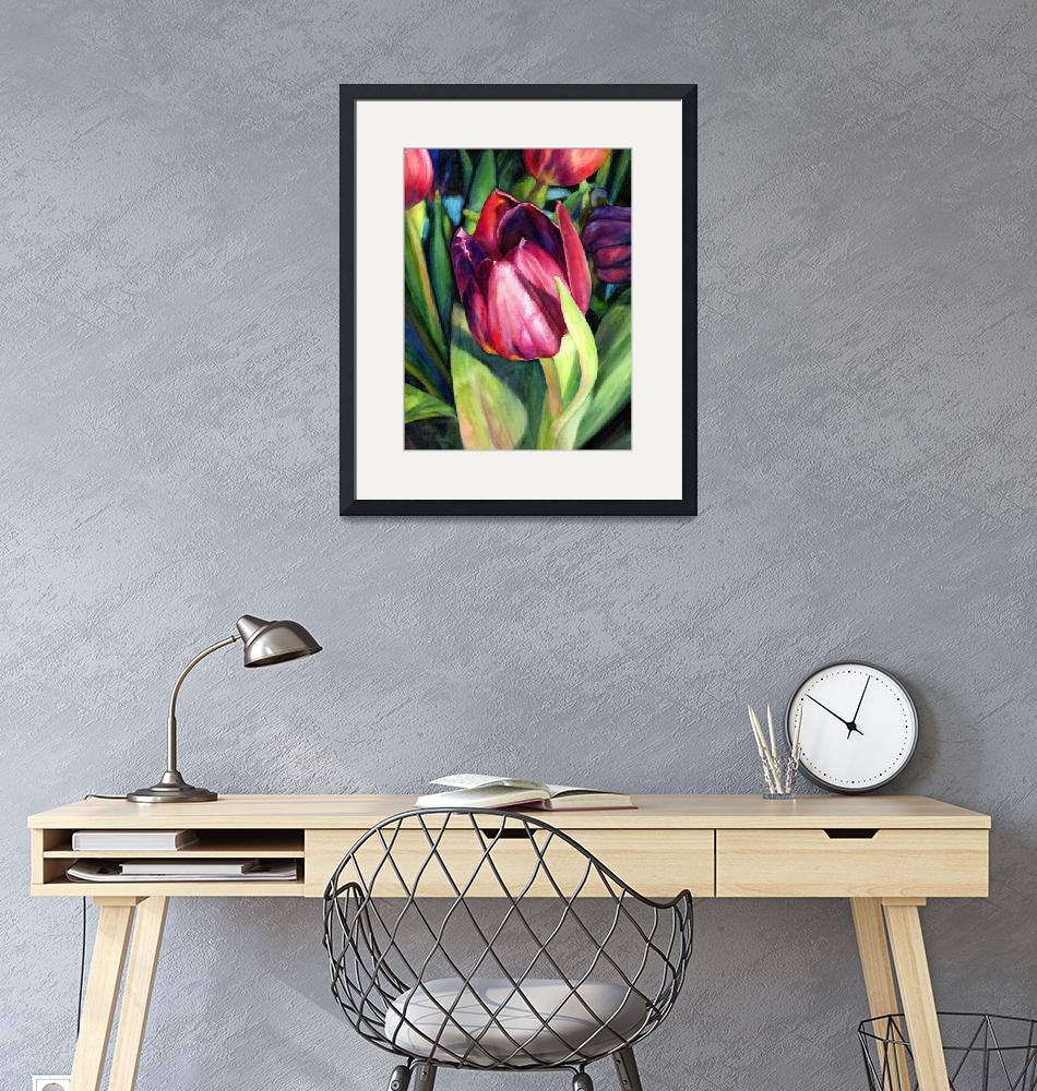 """Tulip Delight""  (2013) by HaileyWatermedia"