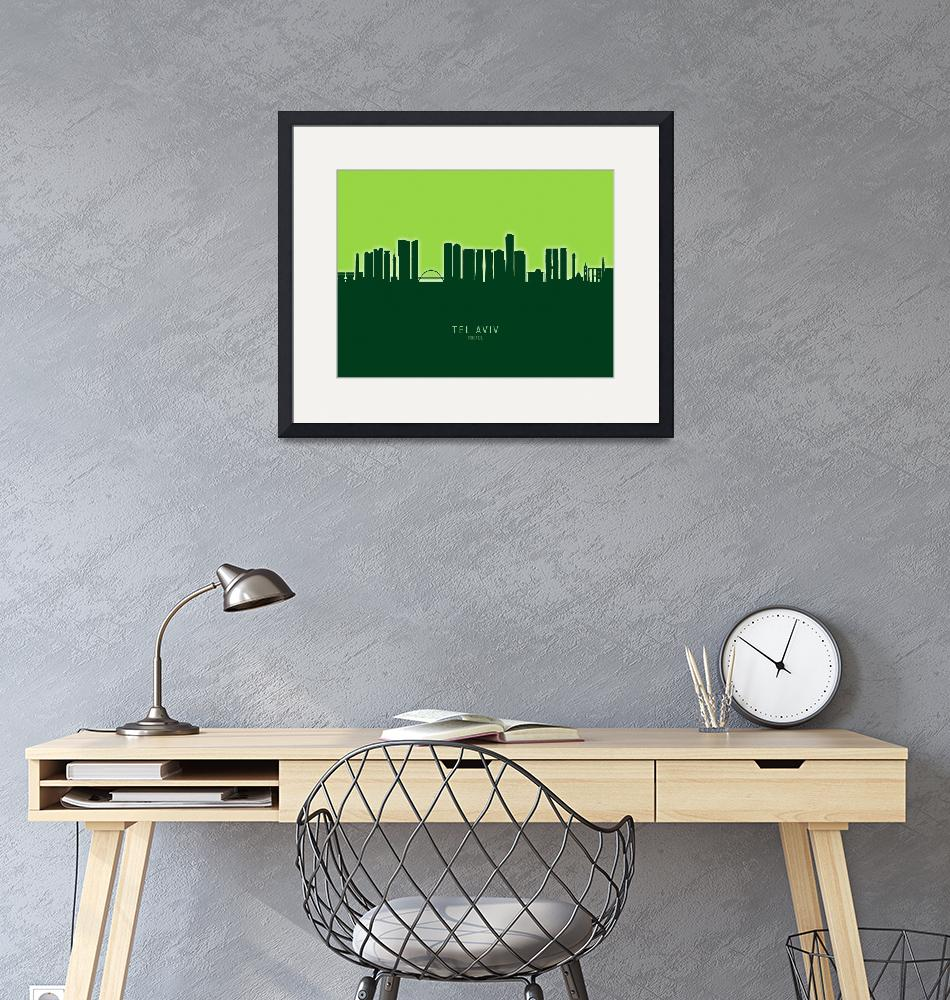 """Tel Aviv Israel Skyline""  (2020) by ModernArtPrints"