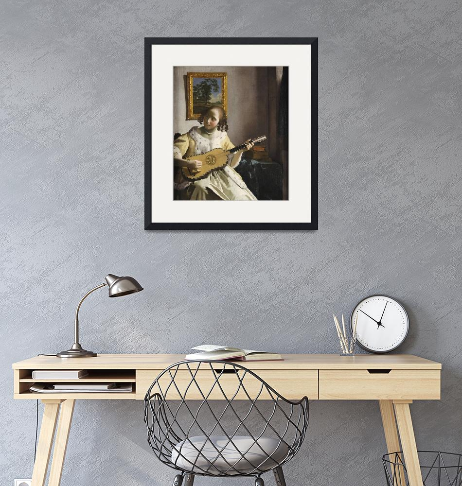 """""""Johannes Vermeer~The Guitar Player""""  by Old_master"""