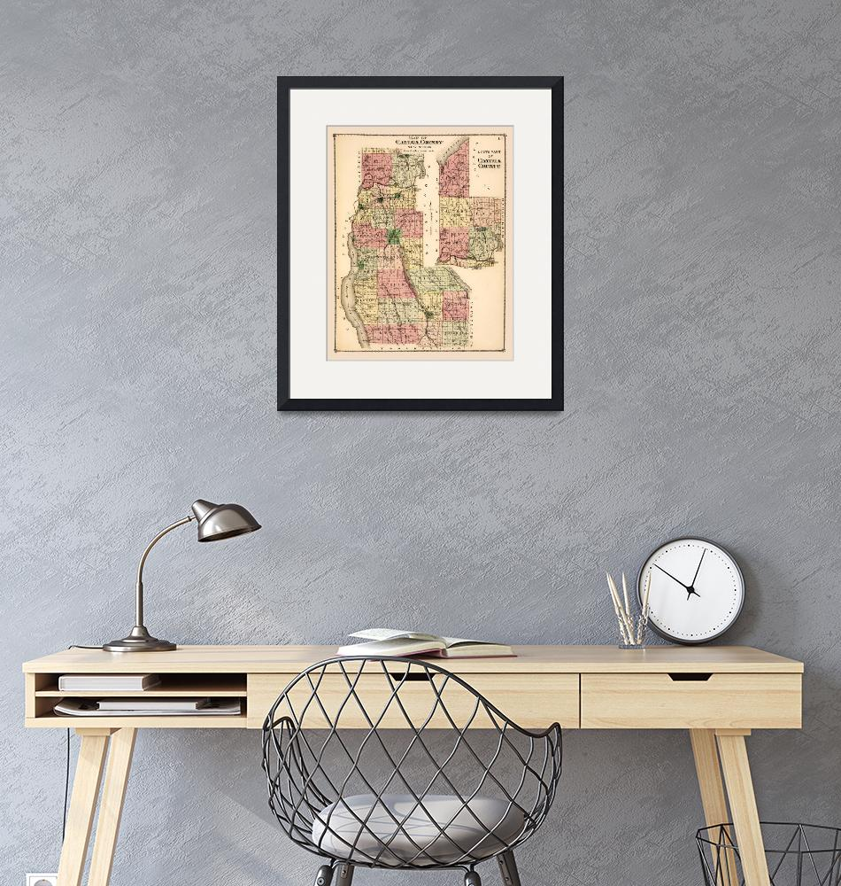"""Cayuga County, NY, 1829 historic map restoration""  (2020) by WilshireImages"