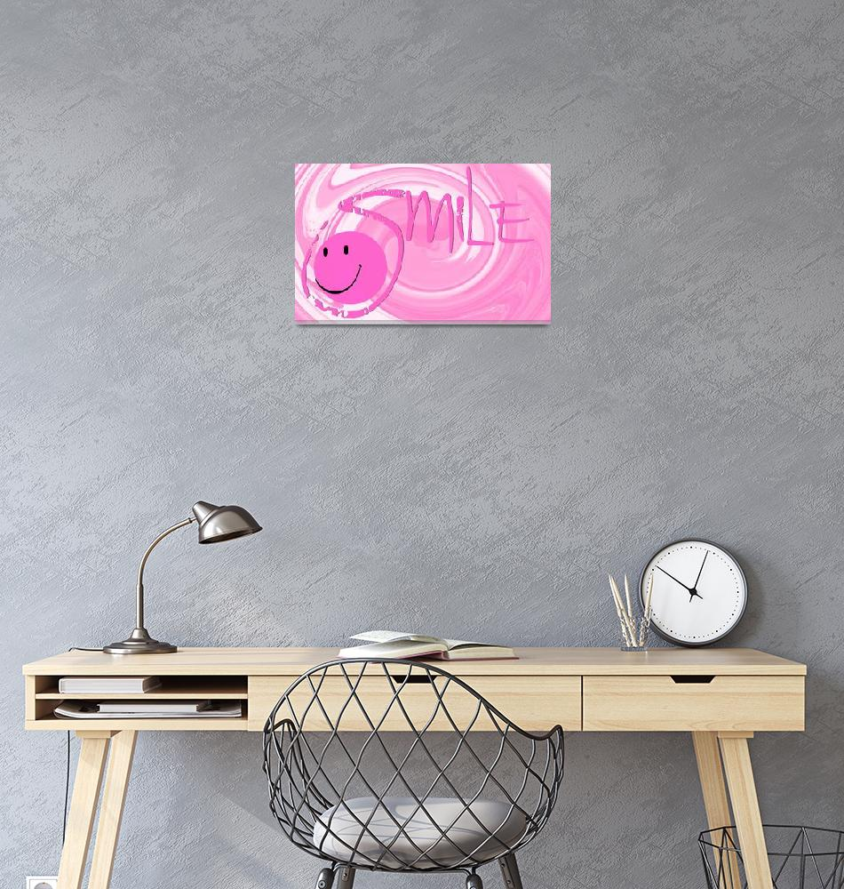"""""""smile pink swirl""""  by lizmix"""