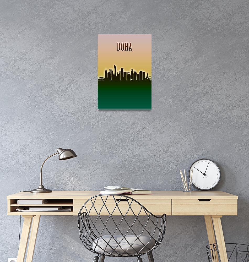 """Doha Skyline""  by Towseef"