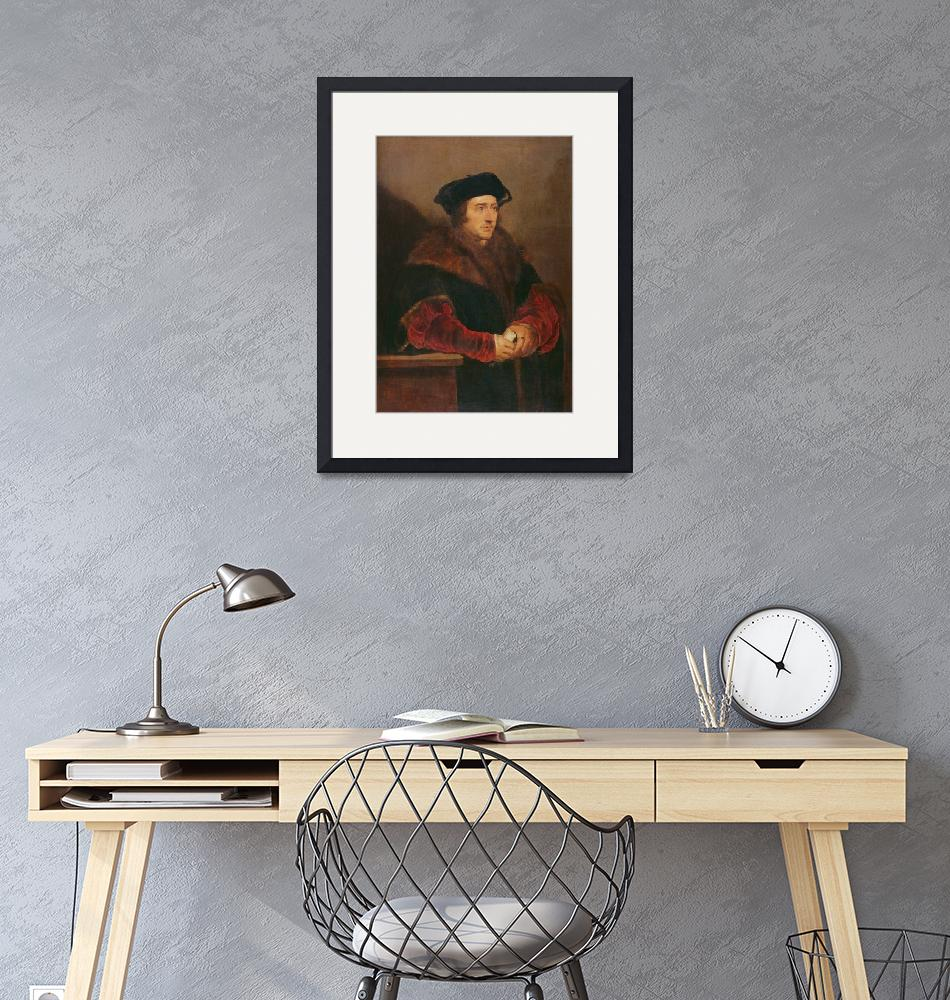"""""""Portrait of Sir Thomas More (oil on canvas)""""  by fineartmasters"""