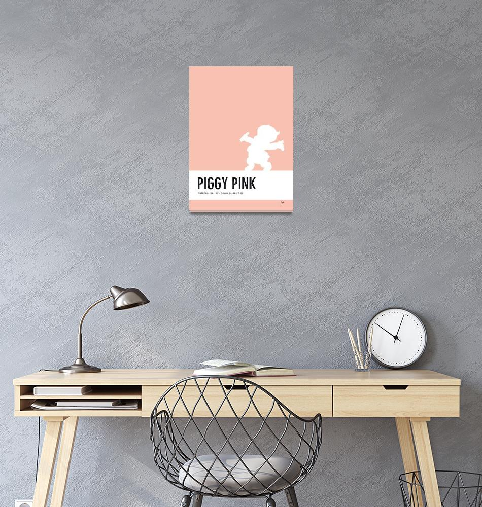 """No17 My Minimal Color Code poster Porky Pig""  by Chungkong"