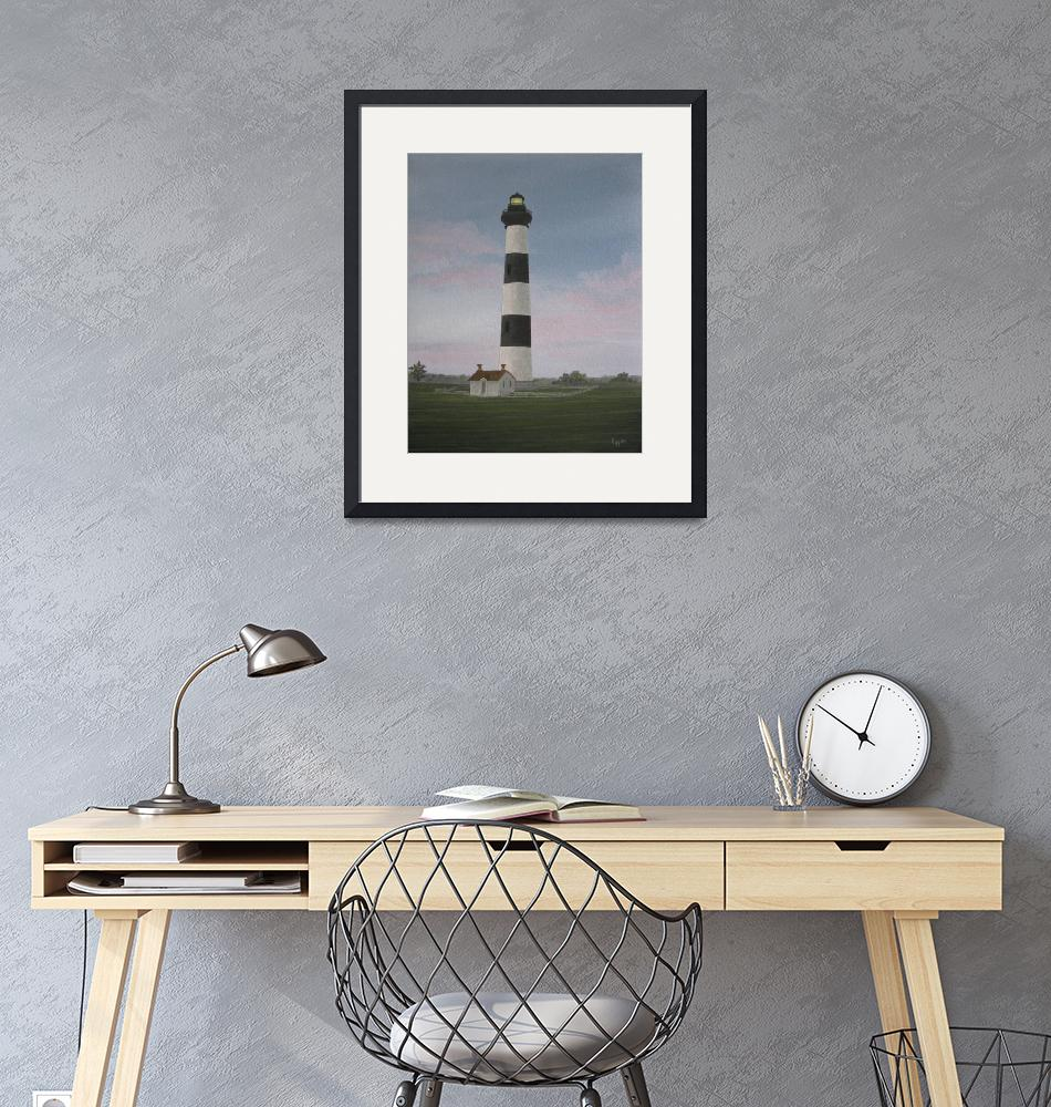 """""""Bodie Island Lighthouse At Sunset"""" (2009) by lesliehuss"""