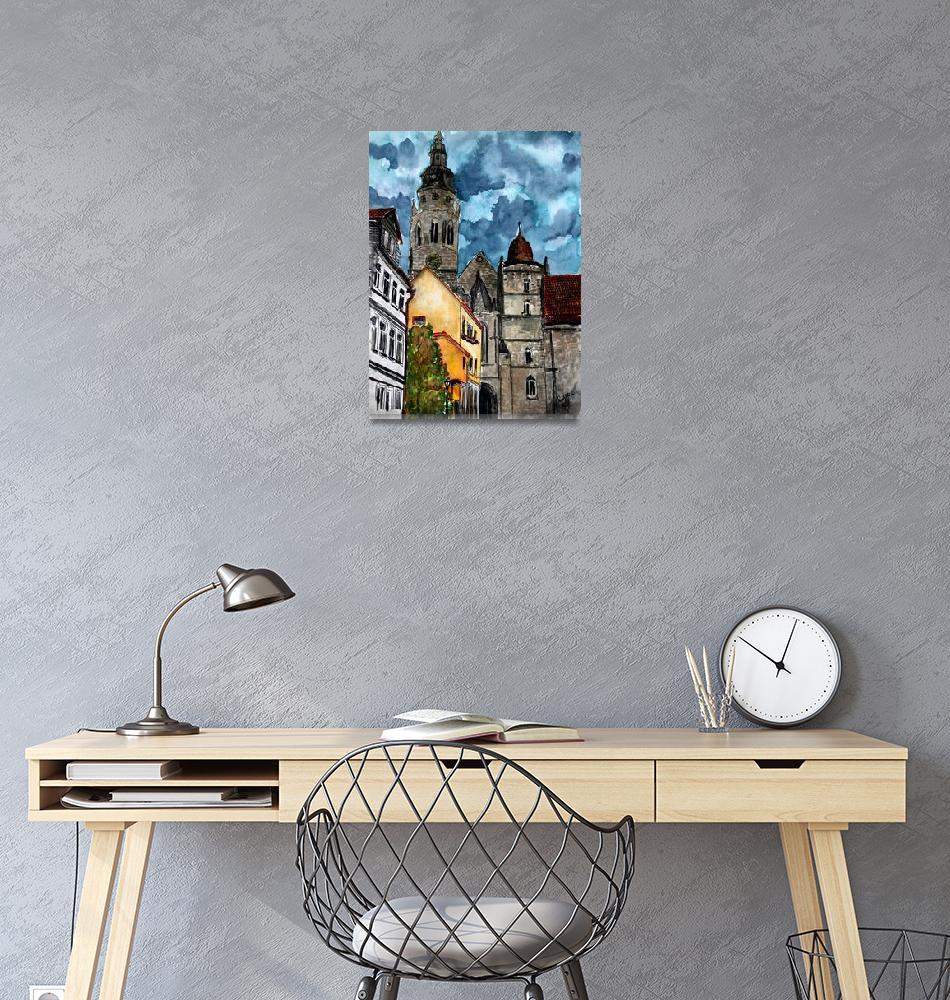 """Coburg Germany Castle Painting""  (2009) by derekmccrea"