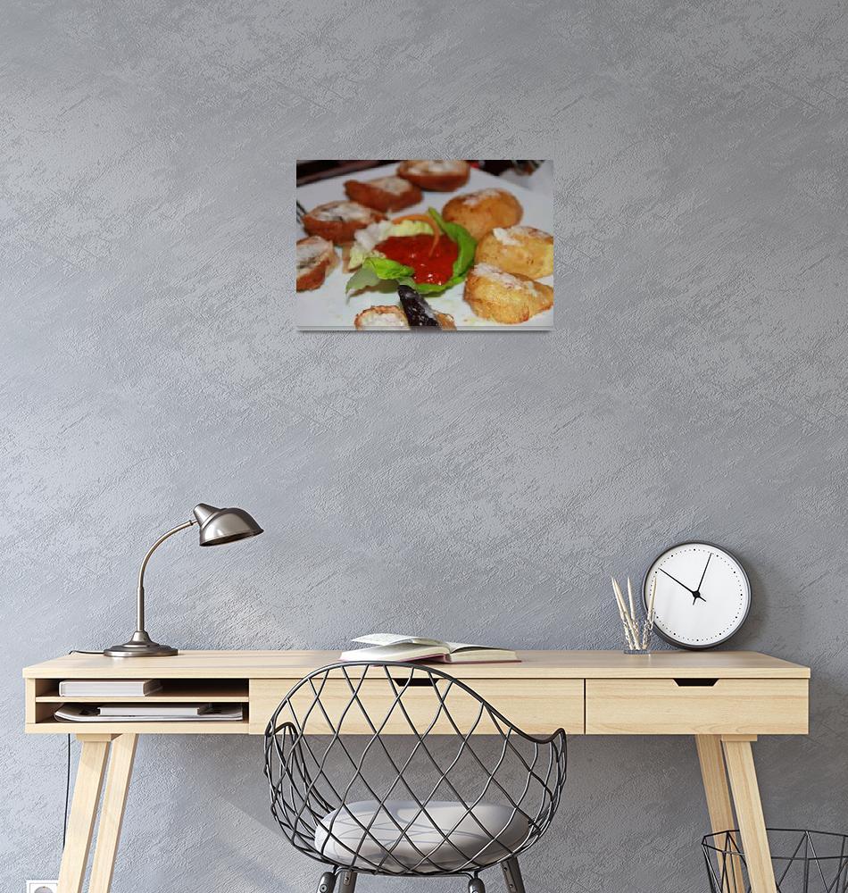 """Chicken rolls for dinner""  (2010) by easyfigure"