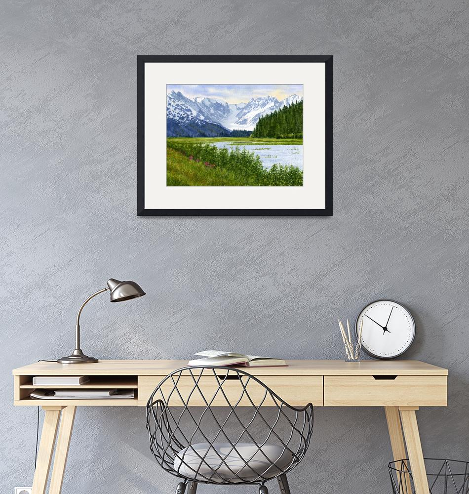 """""""Chugach Glacier View""""  (2012) by Pacific-NW-Watercolors"""