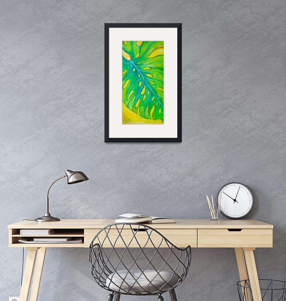 """""""Tropical Leaf""""  (2013) by carvil"""