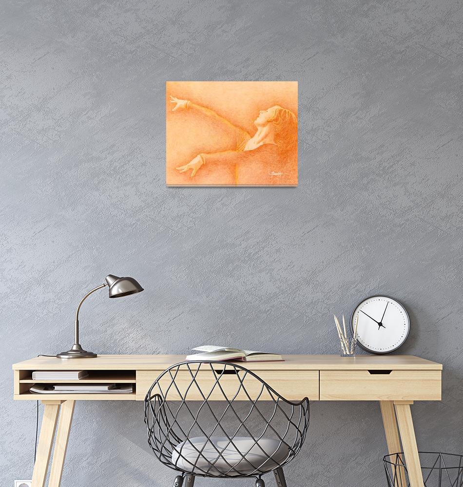"""Woman Gymnast in Orange""  by Tim"