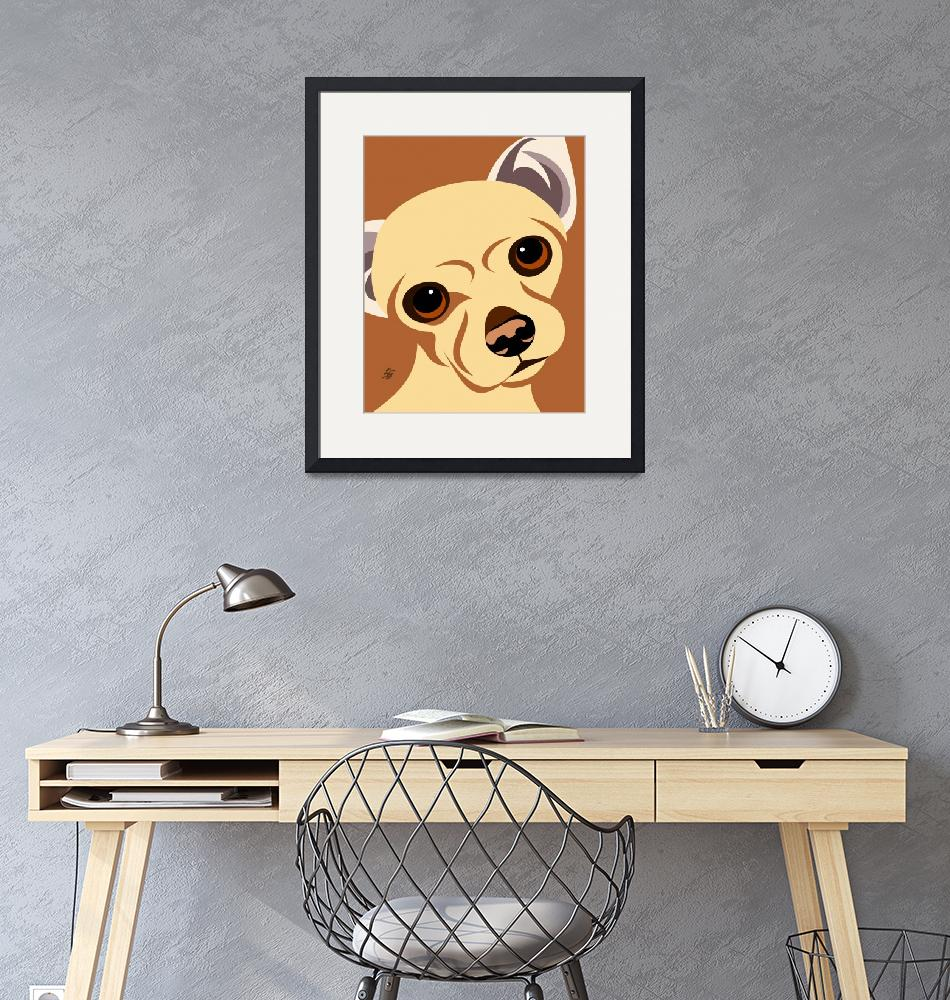 """""""Contemporary Chihuahua Dog Poster""""  by waterart"""