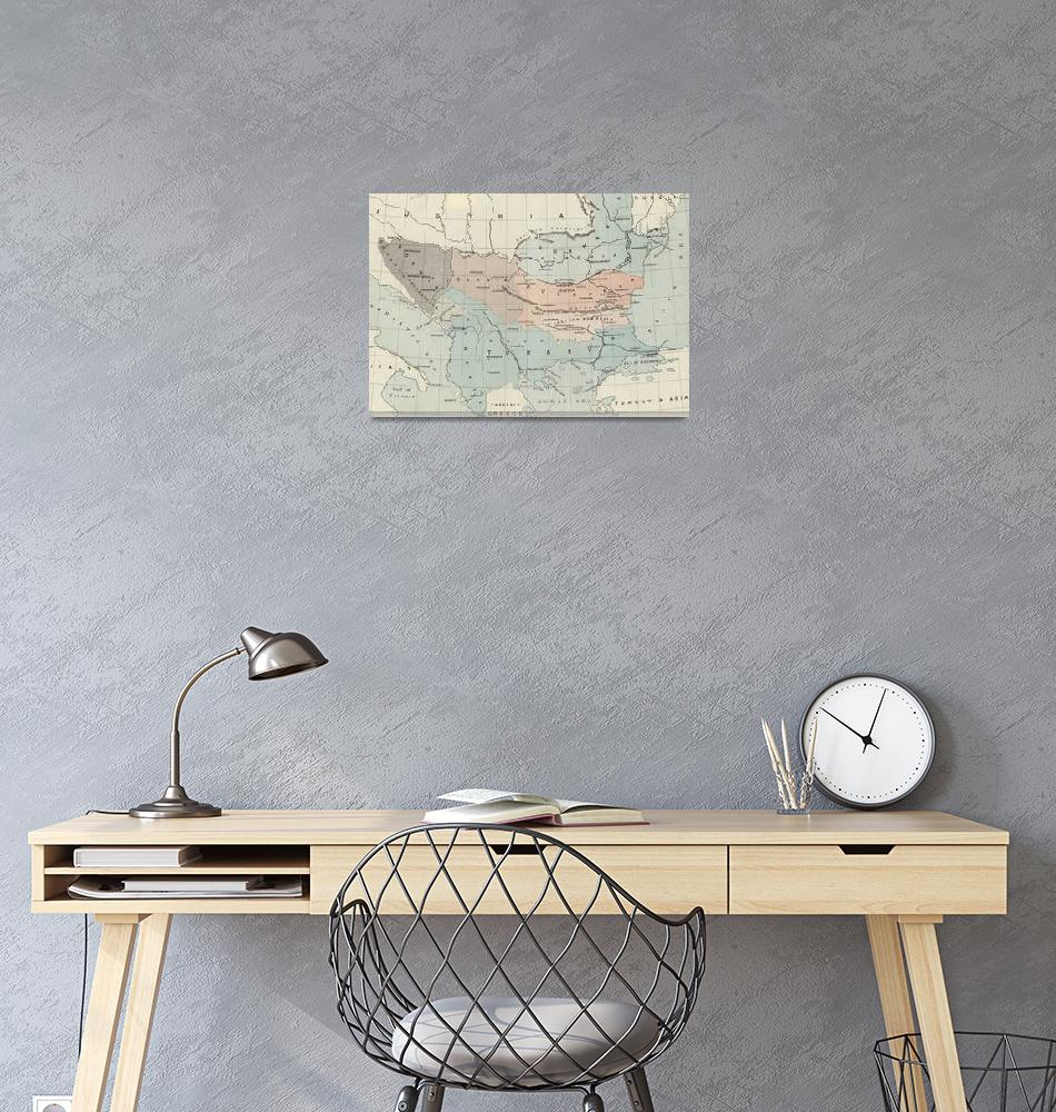 """""""The Graphic Map of Bulgaria, Eastern Roumelia, the""""  by fineartmasters"""