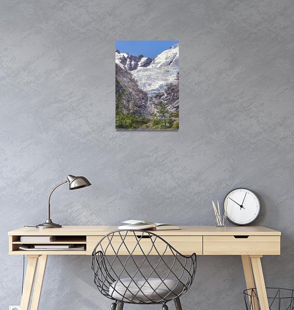 """Huemul Glacier, Patagonia, Argentina""  (2017) by danfleitesart"