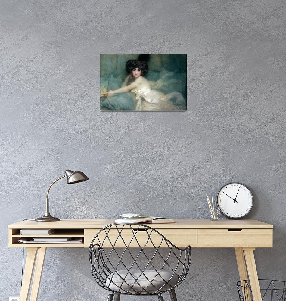 """Portrait of Mademoiselle Carlier"" by fineartmasters"
