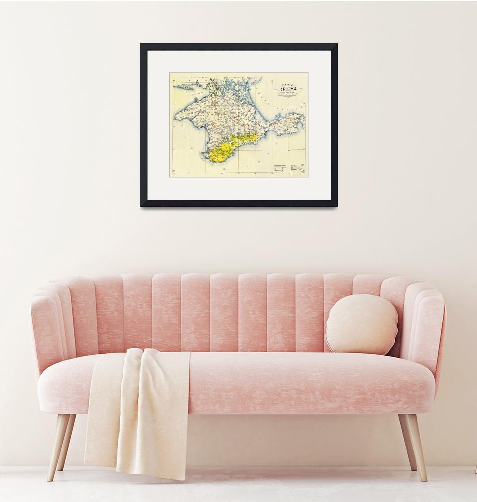 """""""Vintage Map of Crimea (1922)""""  by Alleycatshirts"""