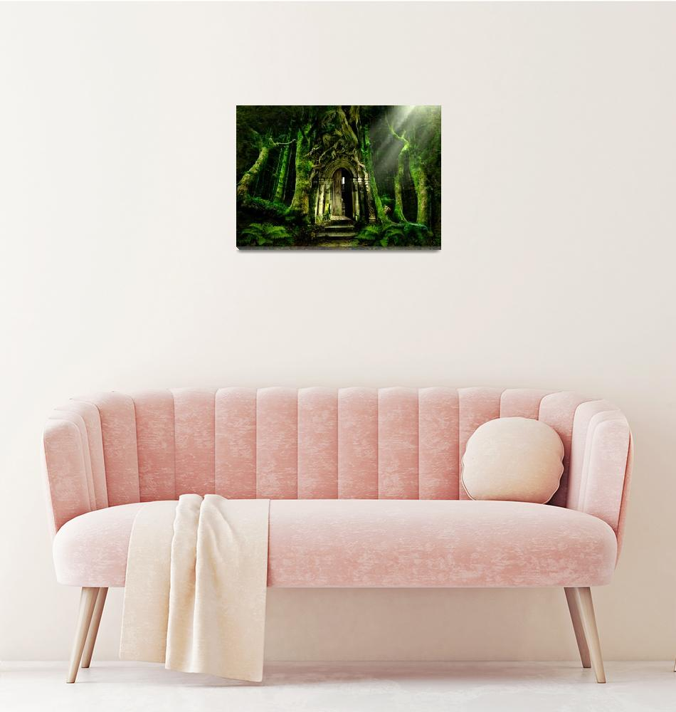 """The Emerald Forest""  (2008) by AngelaBarnett"