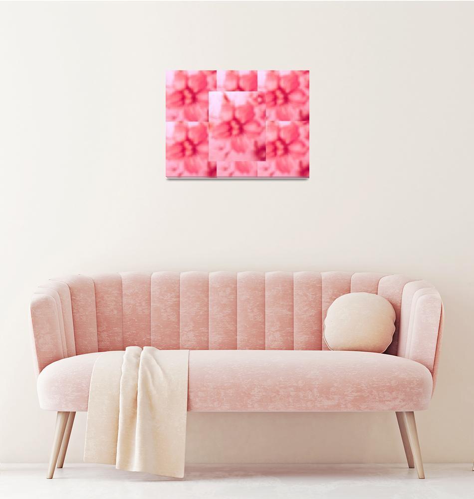 """""""Pink Puffs""""  (2006) by angelabranigan"""